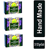 Divine India Mauri Lavender Herbal and Handcrafted Soap, 125 g (Pack of 3)