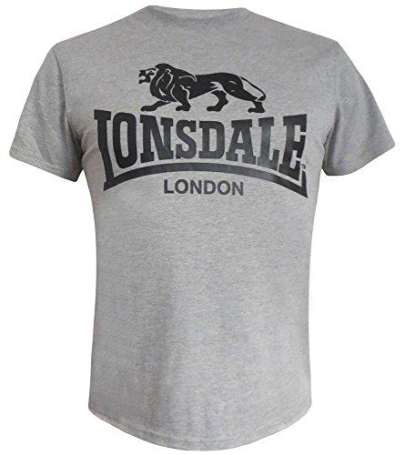 Lonsdale London T-Shirt Logo, Größe:XXL; Farbe:grau -