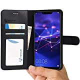 Mate 20 Lite Case by Abacus24-7®, Leather Wallet with Flip