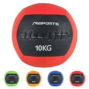 MSPORTS Wall-Ball Premium Gewichtsball 2-10 kg Medizinball