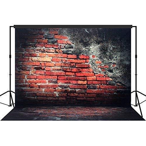 Musykrafties Fotografie Hintergrund Hintergrund Party Wand Foto Booth Requisiten 10x10ft - #1624 rot Backsteinwand