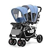 #8: Toyhouse portable Light weight twin stroller , Blue