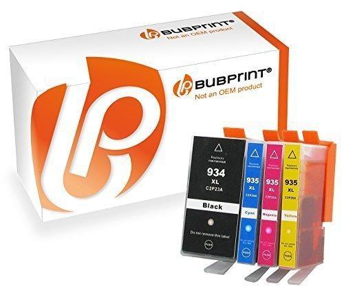 bubprint 4 Cartuchos de impresora compatible con HP 934xl 934XL 935XL 935xl HP Officejet Pro 6230 6820 Cartuchos Multipack