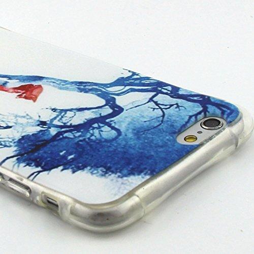 Etsue pour Apple iPhone 6 Plus/iPhone 6S Plus 5.5 Case Cover,Ultra-minces Rim est transparent Frais Doux TPU Coque Housse pour Apple iPhone 6 Plus/iPhone 6S Plus 5.5,Colorful Soft Silicone Case Etui s Renard Rouge