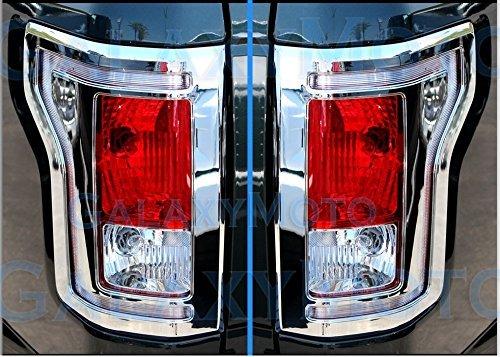 Coppia di 15-16F150camion cromato posteriore Fanale posteriore con cornice, specifico per 2015-2016F150