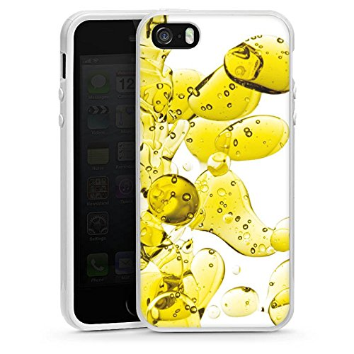 Apple iPhone 6 Housse Étui Silicone Coque Protection Chimie Bulles Bulles Housse en silicone blanc