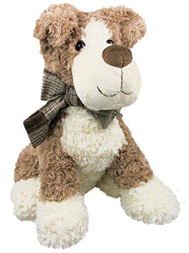 Inware 8040 - Kuscheltier Hund Schnuppi, hellbraun, 21 cm, Schmusetier