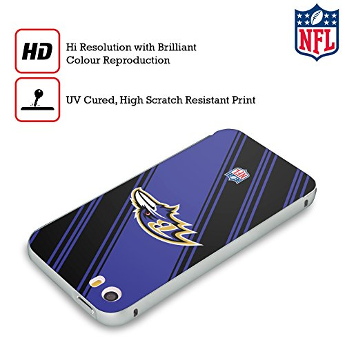 Ufficiale NFL LED 2017/18 Baltimore Ravens Argento Cover Contorno con Bumper in Alluminio per Apple iPhone 6 Plus / 6s Plus Righe