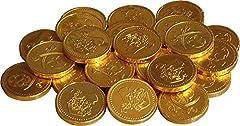 Idea Regalo - Cathys Candy Cart 50 x Lamina d'oro Pirati a Tema con Monete di Cioccolato al Latte Monete, bottigliette per Feste, premi Pinata, cacce all'uovo di Pasqua