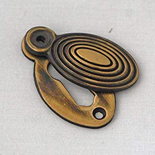 Brass Oval Beehive Escutcheon