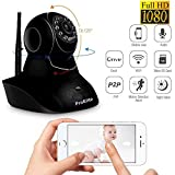#3: ProElite IP01AX 2MP Full HD (1920x1080) WiFi Wireless IP Security Camera CCTV [Watch LIVE Demo] (supports upto 128 GB SD card) [Dual Antenna], Black