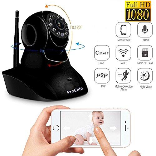 Proelite Wireless Wifi CCTV Security Camera (Black)