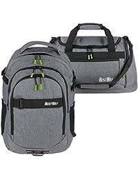 dfda5dc11e9b9 Schulrucksack Jungen grau Mädchen 2tlg Set Rucksack + Sporttasche Bestway