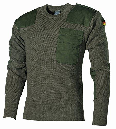 MFH Herren Bundeswehr Pullover, Oliv, 48