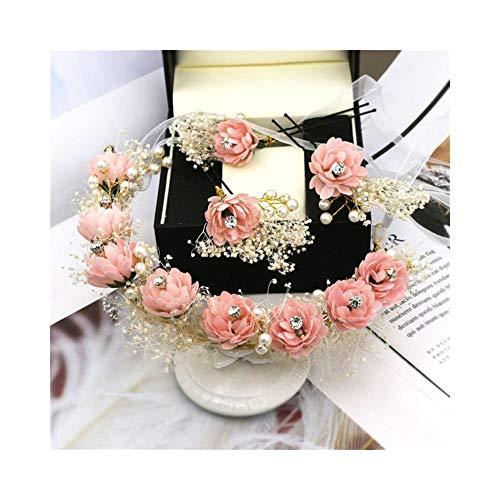 Qqzmd Yam Mädchen Stirnbänder Crown-Handmade Frauen Haarkranz Mit Haarnadel Kreative für Festival Hochzeit Girlande zqq (Color : F) (Kleinkinder Für Halloween-projekte)