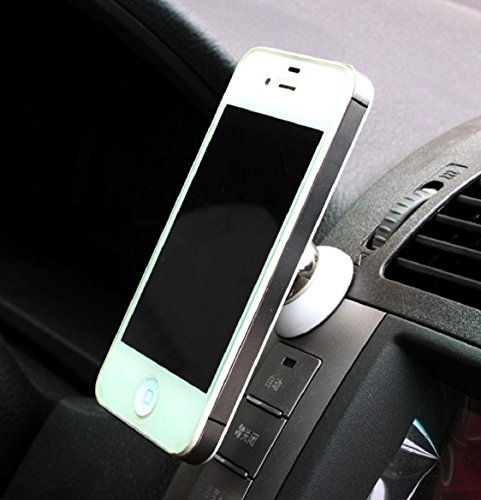 mount holder Kolylong 360° Drehung Mobile Phone Mounts Stands für iPhone 4 5 6 Samsung S5 HTC Weiß Swivel Vent Mount Kit