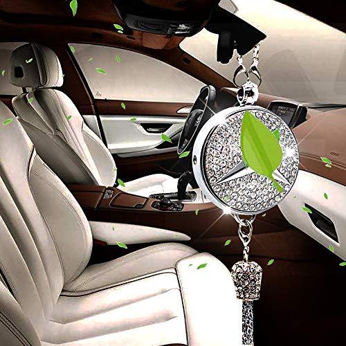 VILLSION Auto Logo Duft Diffusor Auto Lufterfrischer Rückspiegel Anhänger Parfüm Duftspender Autoduft für Mercedes Benz mit Geschenkbox (Mercedes-parfüm)