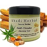 Khadi Natural Herbal Alovera Gel For Skin And Hair With Haldi Chandan Extract