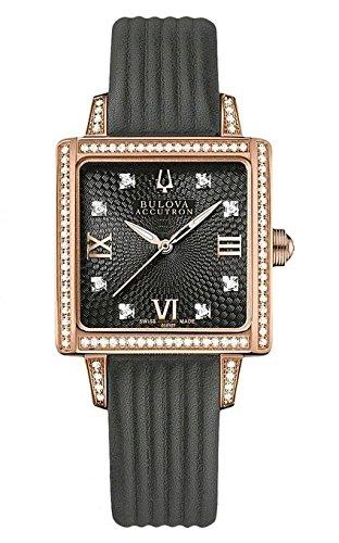 Montre femme BULOVA 65R107 bracelet en cuir noir