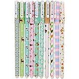 Leisial 10 Unidades Bolígrafos de Tinta Gel de Creativas Lindo Kawaii Papelería Subrayadores de Colores Multicolor