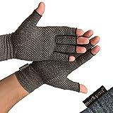 Medipaq® Guantes antiartritis (par) - Guantes sin dedos para la artritis que proporcionan calor y compresión, promueve la curación (1 par de guantes artríticos con agarre (mediano)
