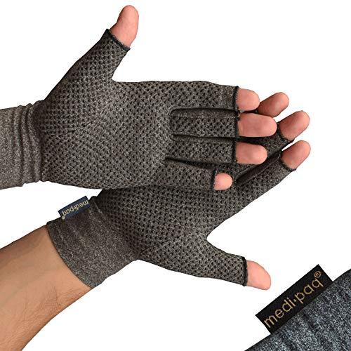 Medipaq® Anti-Arthritis Handschuhe (Paar) - Bieten Wärme Und Üben Druck Aus Um Die Blutzirkulation Zu Erhöhen, Schmerz Zu Reduzieren Und Die Heilung Zu Fördern (1x Paar Mit Haftvermögen)