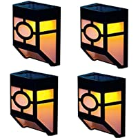 4 Pack Focos Solares Lámparas Solares Luz Solar de Pared 2 LEDs, Led Solar, Luces de Exterior Solar Iluminación y Seguridad de Exterior para Jardín, Patio, Terraza, Escaleras, Camino de Entrada de NORDSD (Blanco Cálido)