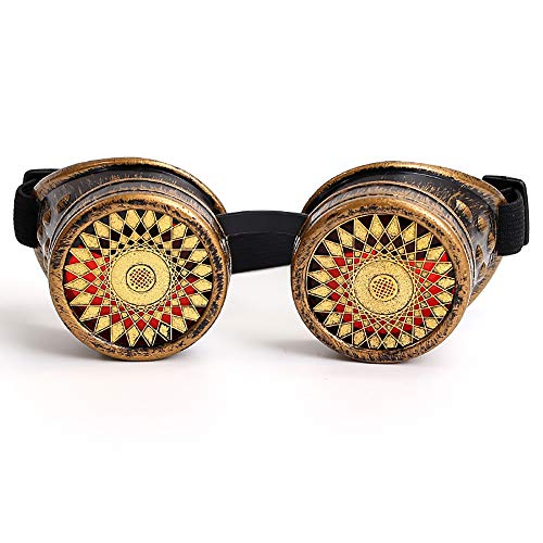 LCLrute Herren und Damen Sonnenbrillen Bunte Brillen Rave Festival Party EDM Sonnenbrille Gebeugte Linse Verspiegelt UV-Schutz
