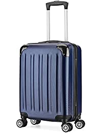 Valise Cabine 55cm Bagage a Main ABS 4 Roues Rigide Ultra Leger 6 Couleurs 40L ¡