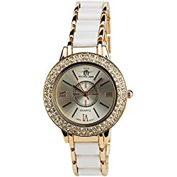 Women's Watch MICHAEL JOHN Silver Quartz Steel Case Analogue Display Steel Band Silver Rose