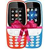 I KALL 4.57 Cm (1.8 Inch) Mobile Phone Combo - K3310 (Red & Sky Blue) With Feature Of Currency Detector