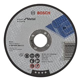 Bosch 2 608 600 394 – Disco de corte recto Expert for Metal – A 30 S BF, 125 mm, 2,5 mm (pack de 1)