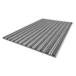 Emco Eingangsmatte Diplomat 510TB Textilbürste 10mm grau Fußabstreifer Fußmatte, Größe:590 x 390 mm