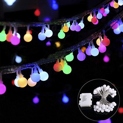 B-right 40 Led Guirlande Lumineuses Boules, imperméables fées étoilées de lumières pour le bricolage, Noël, mariage, Saint Valentin, Vacances, Fête, Jardin, Patio (balle color)