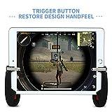 Mando de Juegos para iPad 4U, Botón Gatillo Disparador para Juegos de Tablet Controlador L1 R1 para PUBG/ Knives Out, Compatible con Tablets y Smartphones de 4.5 - 12.9 pulgadas (1 Par)
