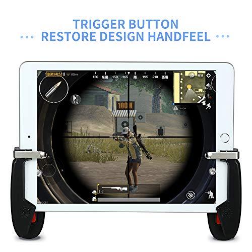 Mobile Game Controller für iPad, 4U Tablet Game Trigger Feuerknopf Zieltaste Gamepad L1R1 Controller für PUBG/Knives Out, Unterstützung 4,5-12,9 Zoll Tablet & Smartphone (1 Paar)