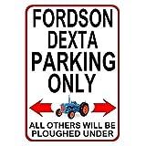 """LynnYo22 Fordson Dexta Parkeerplaats Alleen Metalen bord 12x18"""" Notice Klassieke Ford Tractor GFT Plaque"""