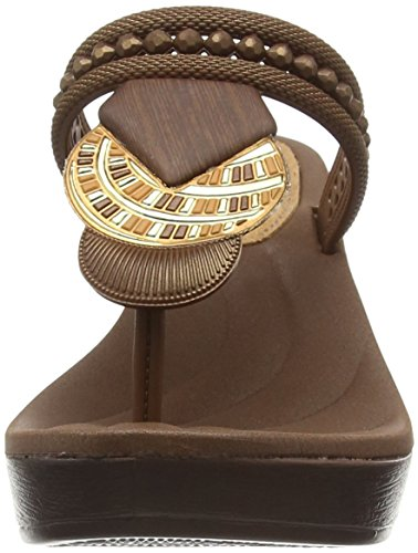 Grendha Tribal Ii, Sandales Compensées femme Beige - Beige (Bronze)
