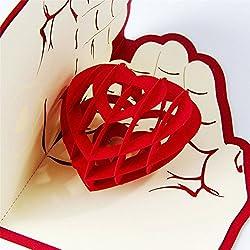 Cartolina di auguri con veliero in 3D pop-up fatta a mano, per compleanno, matrimonio, anniversario, amicizia, Natale, giorno del ringraziamento, grazie, tanti auguri, buona fortuna, buon anno, buon San Valentino