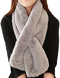 tra qualche giorno shopping più alla moda Amazon.it: pelliccia ecologica - Sciarpe / Sciarpe e stole ...