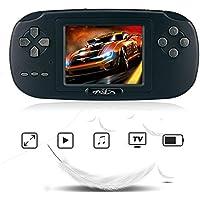 """Rongyuxuan Consola de Juegos de Mano, Mano Consola 2.8""""LCD PVP Plus Juego de Jugador Clásico Consola de Juegos de Mano 168 Juegos en 1 USB Carga Regalo para Niños"""
