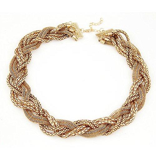Regina Donna Indietro di uno stile vintage collana ciondolo gioielli per le donne, in metallo dorato pizzo maglia catena-Super fresco e unico kt014