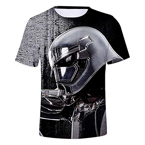 8af99532 TanQi Unisex Patrón 3D Impreso Redondo Suelto Casual T-Shirt Tops Camisetas  De Manga Corta