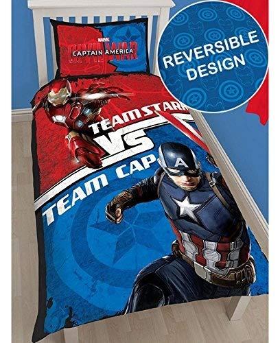 Juego de ropa de cama de Marvel, Captain America Civil...