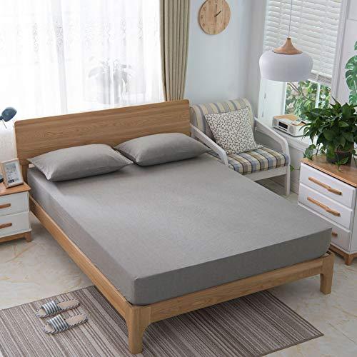 SUYUN Weiche blätter Bett matratze Bettrock Matratzeschoner,wasserdicht und atmungsaktiv, Doppelbett,Schimmelresistent,Waschset für Heimtextilien 6 180 * 200 -