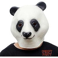CreepyParty Deluxe novità Halloween Costume Party Latex Testa di animale
