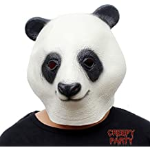 CreepyParty La novedad del partido del traje de lujo de Halloween Látex Cabeza de animal Máscara Máscara Panda