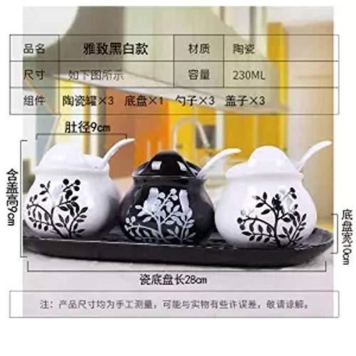 Kreative Keramik Gewürzglas Dreiteilige Anzug Küchenutensilien Gewürzkasten Flasche Salzstreuer Europäischen Gewürzflasche Set