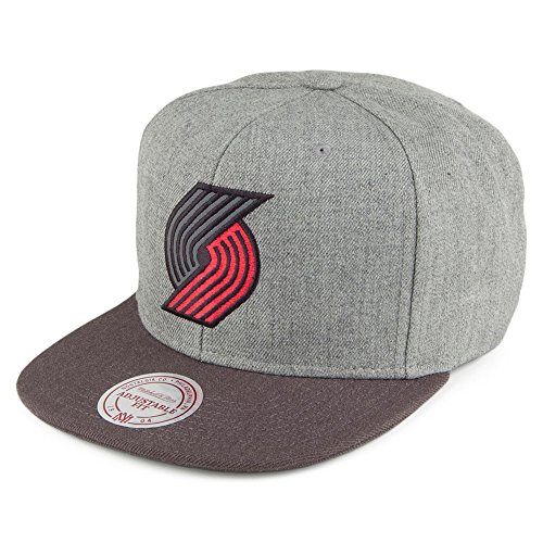 Mitchell & Ness Portland Trailblazers NBA Heather Reflective Snapback Cap Kappe Basecap (Synthetischen Nba Ball)