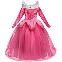 Disfraz de princesa Aurora Sleeping Beauty Dress para niña Little Carnival Dress 856